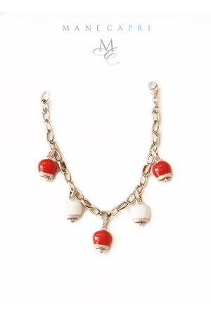 Bracciale con campanelle di Capri rosse e bianche Pierino Jewels | 36 | RED BELLSROSSO