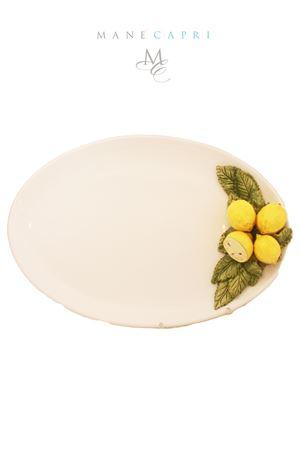 Piatto da portata con applicazione di limoni Sea Gull Capri | 20000026 | OV. LIM. RILIEVOLIMONI