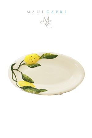 Piatto da portata in ceramica con limoni Sea Gull Capri | 20000026 | OV. LIM.LIMONI CM 25X13