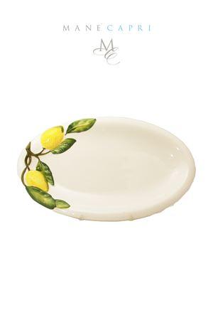 Piatto da portata grande in ceramica con limoni Sea Gull Capri | 20000026 | OVALE LIMLIMONI CM 35X20