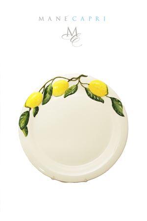 Ceramic  dinner plate with lemons Sea Gull Capri | 20000026 | PIATTO PIANO LIMLIMONI 30 CM