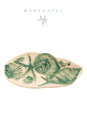 ceramic spoon rest with turquoise shells Sea Gull Capri | 20000026 | PMEST CONCHIGLIECONCHIGLIE