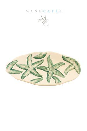 Ceramic spoon rest with turquoise sea stars Sea Gull Capri | 20000026 | PMEST STELLA TURCSTELLA TURCHINA CM 26X13