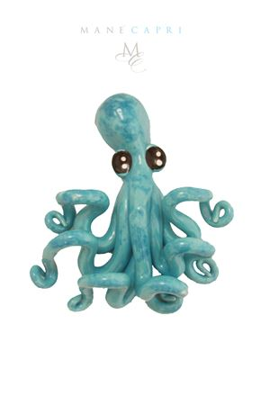 Decorartive ceramic octopus Sea Gull Capri | 20000004 | POLIPO AZZAZZURRO CM 18X16
