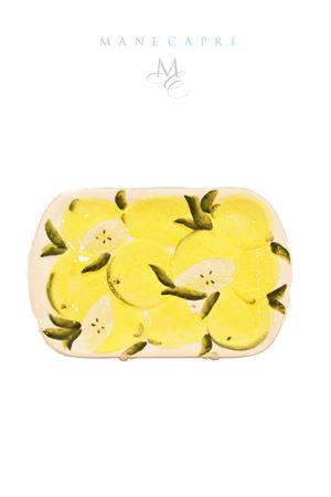 Piatto rettangolare con limoni Sea Gull Capri | 20000026 | RETT. LIMONICM 24X15