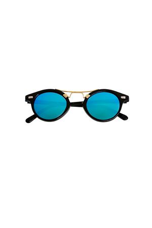 Spektre sunglasses Cosmopolis model with mirrored lenses Spektre | 53 | COSMOPOLISBLACK BLUE MIRROR