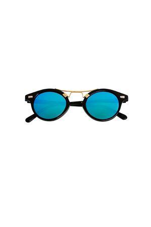 Occhiali da sole Spektre modello COSMOPOLIS neri con lente blu Spektre | 53 | COSMOPOLISBLACK BLUE MIRROR