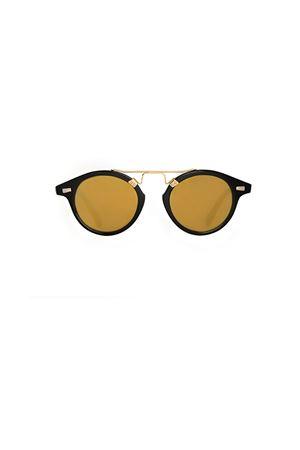 Occhiali da sole Spektre modello Cosmopolis neri con lente gialla Spektre | 53 | COSMOPOLISBLACK GOLD MIRROR