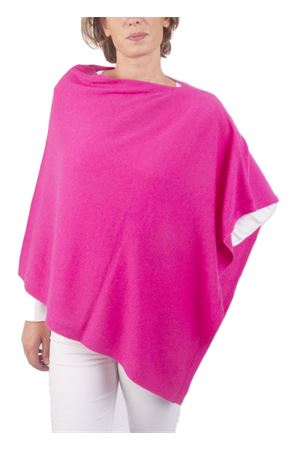 Wool and cashmere fuxia poncho  Art Tricot | 52 | 700PFUXIA