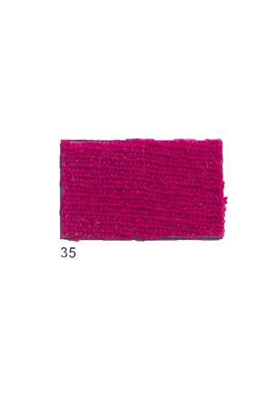 Giacca con frange in cachemire e lana fucsia Art Tricot | 3 | D7171 FRINGE35FUXIA