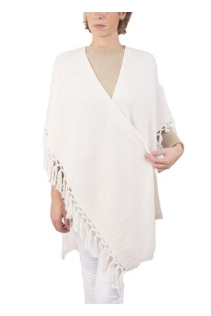 Cachemire and wool fringes white jacket Art Tricot | 3 | D7171 FRINGEBIANCO