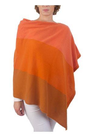 Mantella in cachemire e lana arancione Art Tricot | 52 | STRIPE PONCHOARANCIO