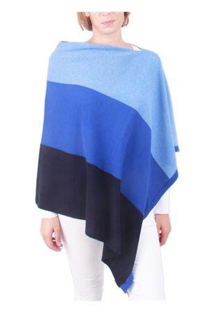 Mantella in cachemire e lana blu Art Tricot | 52 | STRIPE PONCHOBLU