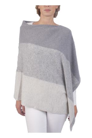 Wool and cashmere poncho Art Tricot | 52 | STRIPE PONCHOGRIGIO