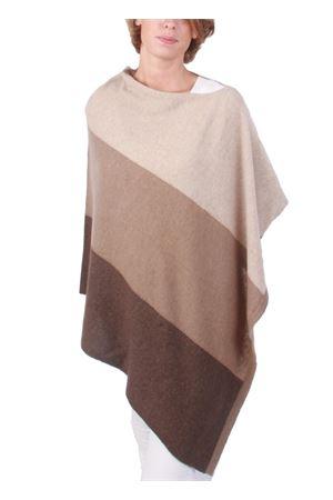 Mantella in cachemire e lana marrone Art Tricot | 52 | STRIPE PONCHOMARRONE
