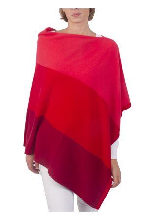 Mantella in cachemire e lana rosso Art Tricot | 52 | STRIPE PONCHOROSSO