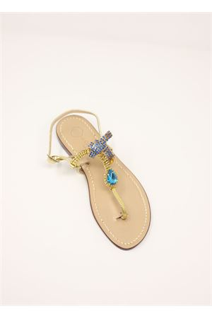 da Costanzo capri jewel sandals  Da Costanzo | 5032256 | DROPMULTI