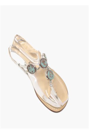 sandals with coins Da Costanzo | 5032256 | MONETEAZZAZZURRO