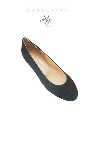 Black lace ballerina shoes Da Costanzo | 5032261 | PIZZO NERONERO
