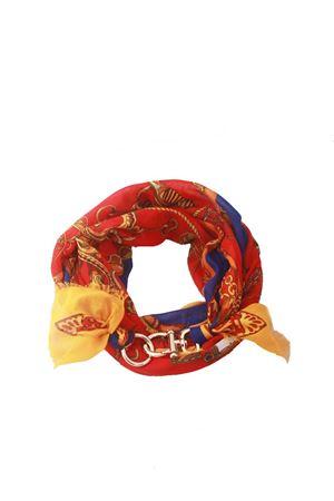 Foulard decorato con gancio con fantasia catene Grakko Fashion | -709280361 | GR LONG ROSSOROSSO
