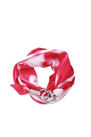 Pink scarf with hook closure Grakko Fashion | -709280361 | GRIRFUXIA
