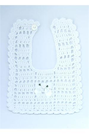 Cotton white handmade bib Il Filo di Arianna | 20000040 | BAV COT 01FIOCCO