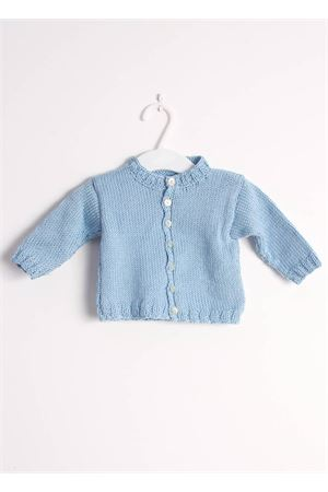 Pure cotton new born light blue cardigan Il Filo di Arianna | 39 | CAR COT 01CELESTE