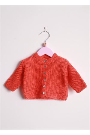 New born cotton sweater Il Filo di Arianna | 39 | CAR COT 03 ORANGEARANCIO