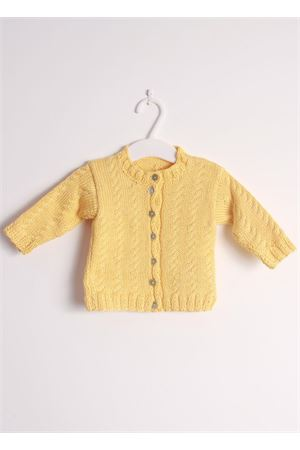 New born unisex yellow cardigan sweater in pure cotton Il Filo di Arianna | 39 | CAR COT 05 GIALLOGIALLO