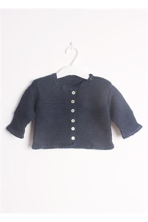 Cotton cardigan sweater for new born Il Filo di Arianna | 39 | CAR COT 08BLU NOTTE