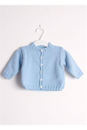 Wool cardigan sweater for new born Il Filo di Arianna | 39 | CAR LAN 01 CELCELESTE