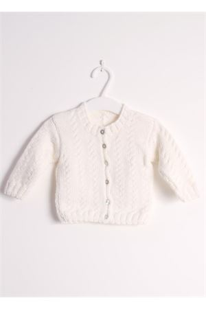 Wool cardigan sweater for new born Il Filo di Arianna | 39 | CAR LAN 01BIANCO