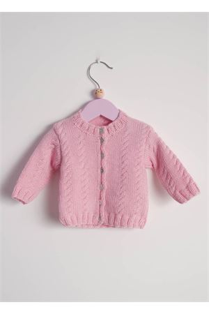 Pink wool cardigan sweater for new born Il Filo di Arianna | 39 | CAR LAN 02ROSA