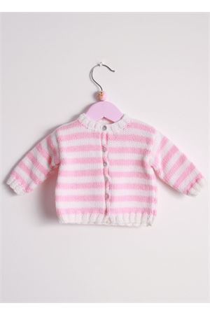 Wool cardigan sweater for new born Il Filo di Arianna | 39 | CAR LAN 03BIANCO ROSA