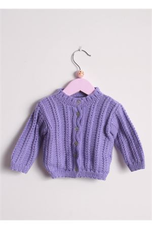 Wool cardigan sweater for new born Il Filo di Arianna | 39 | CAR LAN 04LILLA