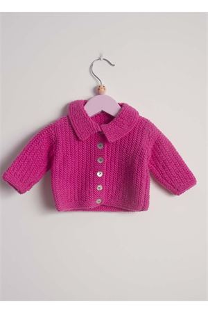 Fuxia wool cardigan sweater for new born Il Filo di Arianna | 39 | CAR LAN 06FUXIA