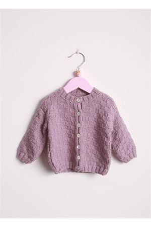 Liliac wool cardigan sweater for new born Il Filo di Arianna | 39 | CAR LAN 08MELANZANA