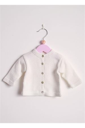 Cotton cardigan sweater for new born Il Filo di Arianna | 39 | CARCOT 02BIANCO