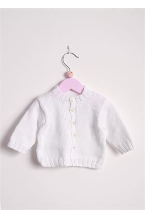 Cotton cardigan sweater for new born Il Filo di Arianna | 39 | CARCOT01 BABYBIANCO