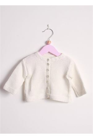 Cotton cardigan sweater for new born Il Filo di Arianna | 39 | CARCOT02 ICEGHIACCIO