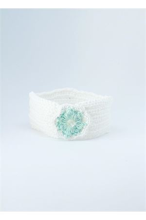 Green and white cotton band for new born Il Filo di Arianna | 20000041 | FAS COT 06ACQUA/ACQUA