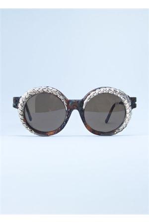 Occhiali da sole rotorndi con decorazione in argento Kuboraum | 53 | MASKE K14 ARGMARRONE