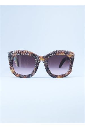 Kuboraum sunglasse with elaborate inlay  Kuboraum | 53 | MASKEB2MARRONE