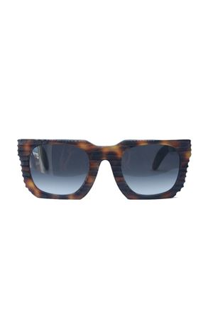 Kuboraum sunglasses with cut effect frame Kuboraum | 53 | MASKEU3MARRONE