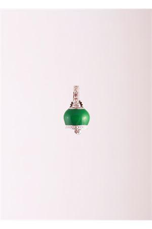 Green Capri bell charm with white zircons Manè Capri | 20000055 | MANE BELL CLVERDE