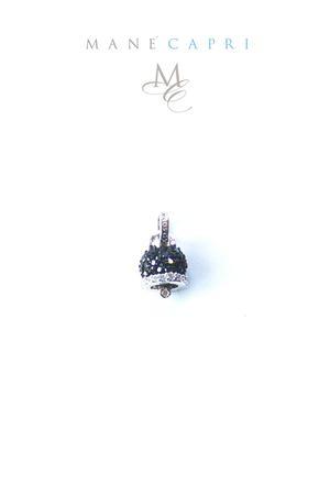 Campanella di Capri portafortuna con zirconi neri Manè Capri | 20000055 | MANE1BLACKNERO