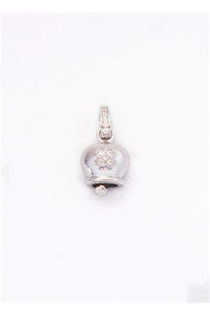 Lucky Capri Bell charm with zircons quatrefoil Pierino Jewels | 20000055 | 3060/QUADRIFOGLIOQUADRIFOGLIO