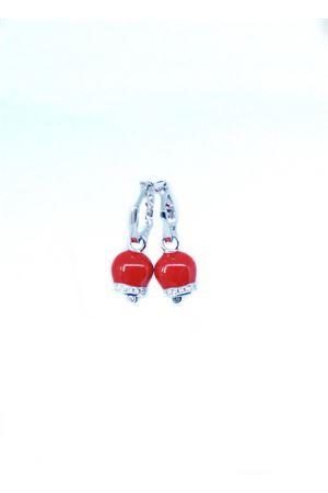 Orecchini con campanelle di Capri smaltate rosse e zirconi Pierino Jewels | 48 | 3065ROSSO