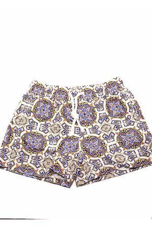 Capri majolica pattern man swimsuit  Aram Capri | 85 | MAIOLICA 586019339BLU