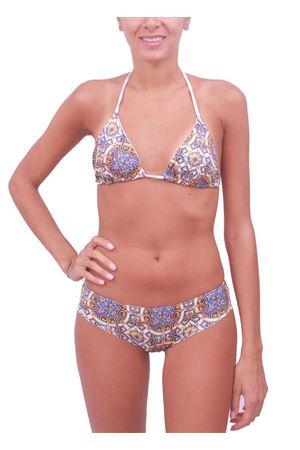 Bikini da donna fantasia Maiolica Caprese Aram V Capri | 85 | BIKINI CAPRI2ARANCIONE
